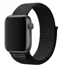 Часы Apple Watch Series 4 GPS 44mm Aluminum Case (gray) with Sport Loop (black)