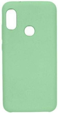 Накладка оригинальная Silicone cover Xiaomi Redmi Note 7 (silky & soft-touch) (green)