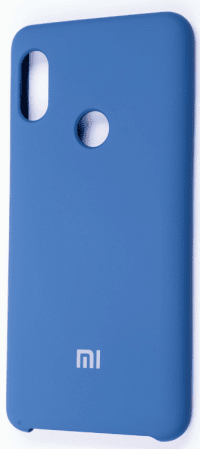 Накладка оригинальная Silicone cover Xiaomi Redmi Note 7 (silky & soft-touch) (blue)