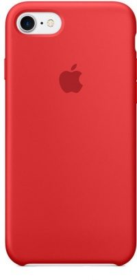 Накладка оригинальная Silicone cover iPhone X (silky & soft-touch) (red)