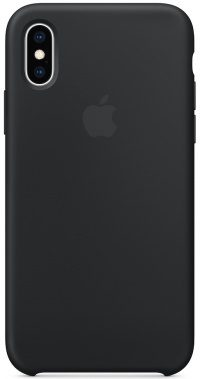 Накладка оригинальная Silicone cover iPhone X (silky & soft-touch) (black)