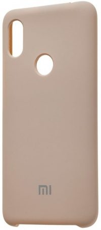 Накладка оригинальная Silicone cover Xiaomi Redmi Note 7 (silky & soft-touch) (grey)