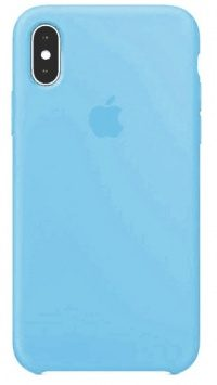 Накладка оригинальная Silicone cover iPhone X (silky & soft-touch) (blue)