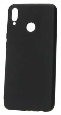 Накладка оригинальная Silicone cover Honor 8X (silky & soft-touch) (black)