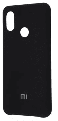 Накладка оригинальная Silicone cover Xiaomi Redmi Note 7 (silky & soft-touch) (black)