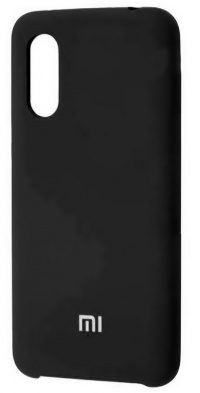 Накладка оригинальная Silicone cover Xiaomi Mi9 SE (silky & soft-touch) (black)