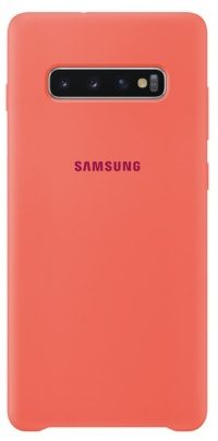 Накладка оригинальная Silicone cover Samsung Galaxy S10+ (silky & soft-touch) (rose)